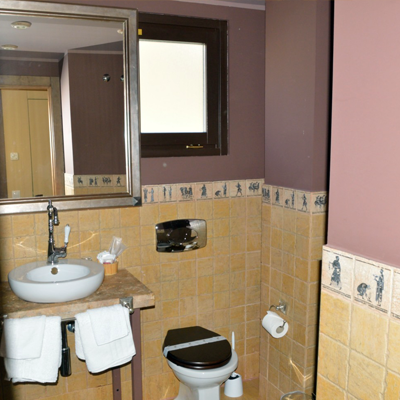 BAÑO HABITACION HOTEL EN TEVERGA